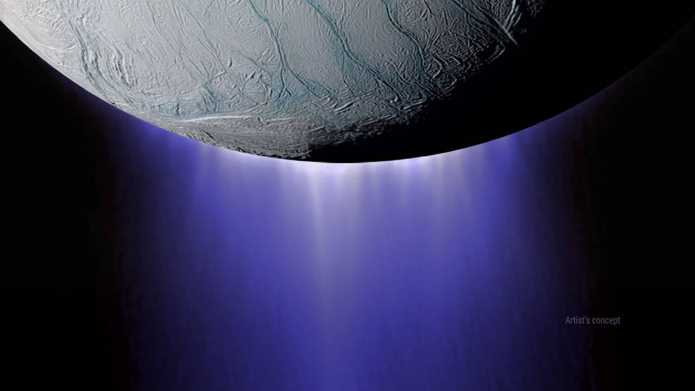 Enceladus, icy moon of Saturn